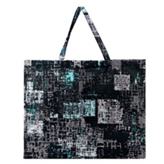 Abstract Art Zipper Large Tote Bag by ValentinaDesign