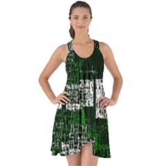Abstract Art Show Some Back Chiffon Dress by ValentinaDesign