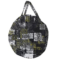 Abstract Art Giant Round Zipper Tote