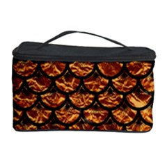 Scales3 Black Marble & Copper Foil (r) Cosmetic Storage Case by trendistuff