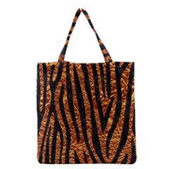 Skin4 Black Marble & Copper Foil Grocery Tote Bag by trendistuff