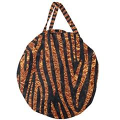 Skin4 Black Marble & Copper Foil (r) Giant Round Zipper Tote by trendistuff