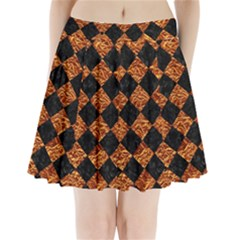 Square2 Black Marble & Copper Foilsquare2 Black Marble & Copper Foil Pleated Mini Skirt by trendistuff