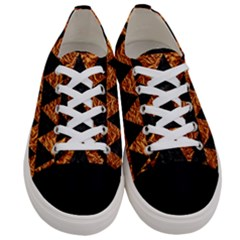 Triangle2 Black Marble & Copper Foil Women s Low Top Canvas Sneakers