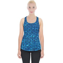 Brick1 Black Marble & Deep Blue Water (r) Piece Up Tank Top