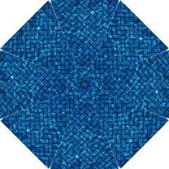 Brick2 Black Marble & Deep Blue Water (r) Hook Handle Umbrellas (small) by trendistuff