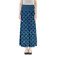 Circles3 Black Marble & Deep Blue Water Full Length Maxi Skirt by trendistuff