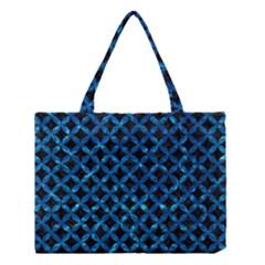 Circles3 Black Marble & Deep Blue Water Medium Tote Bag by trendistuff