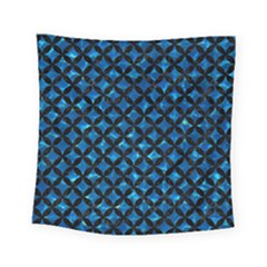 Circles3 Black Marble & Deep Blue Water (r) Square Tapestry (small) by trendistuff