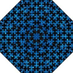 Puzzle1 Black Marble & Deep Blue Water Golf Umbrellas by trendistuff