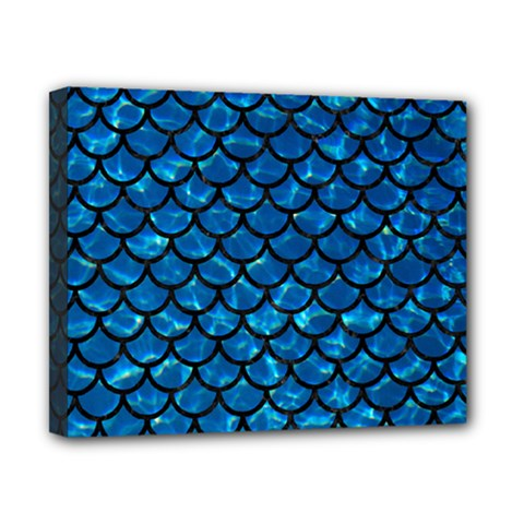 Scales1 Black Marble & Deep Blue Water (r) Canvas 10  X 8  by trendistuff