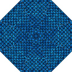 Scales1 Black Marble & Deep Blue Water (r) Straight Umbrellas by trendistuff