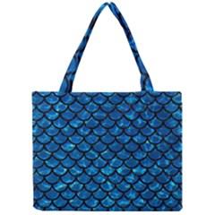 Scales1 Black Marble & Deep Blue Water (r) Mini Tote Bag by trendistuff