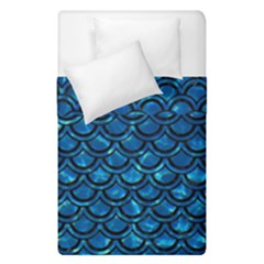 Scales2 Black Marble & Deep Blue Water (r) Duvet Cover Double Side (single Size) by trendistuff