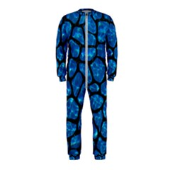 Skin1 Black Marble & Deep Blue Water Onepiece Jumpsuit (kids)