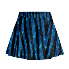 Skin4 Black Marble & Deep Blue Water (r)skin4 Black Marble & Deep Blue Water (r) Mini Flare Skirt by trendistuff