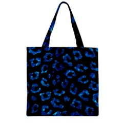 Skin5 Black Marble & Deep Blue Water (r) Zipper Grocery Tote Bag by trendistuff