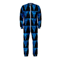 Triangle2 Black Marble & Deep Blue Water Onepiece Jumpsuit (kids)