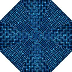 Woven1 Black Marble & Deep Blue Water (r) Hook Handle Umbrellas (large) by trendistuff