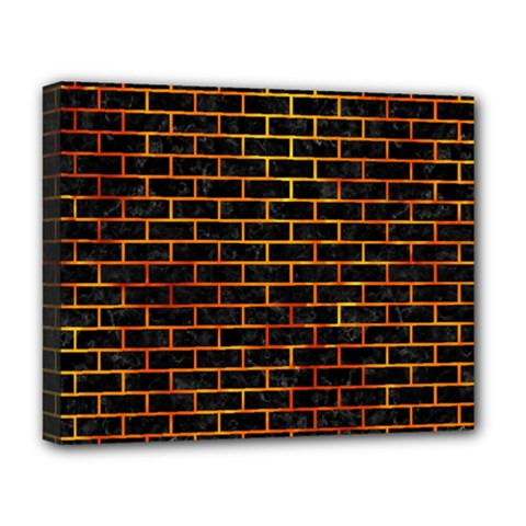 Brick1 Black Marble & Fire Deluxe Canvas 20  X 16   by trendistuff