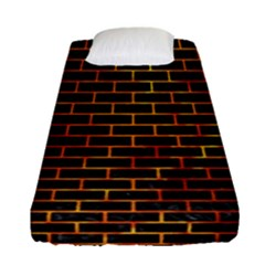 Brick1 Black Marble & Fire Fitted Sheet (single Size) by trendistuff