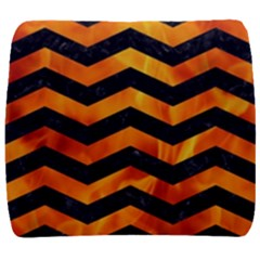 Chevron3 Black Marble & Fire Back Support Cushion