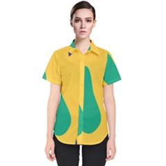 Yellow Green Blue Women s Short Sleeve Shirt