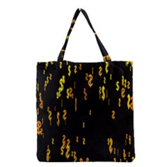 Animated Falling Spinning Shining 3d Golden Dollar Signs Against Transparent Grocery Tote Bag by Mariart