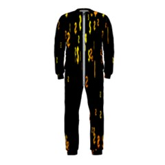 Animated Falling Spinning Shining 3d Golden Dollar Signs Against Transparent Onepiece Jumpsuit (kids) by Mariart