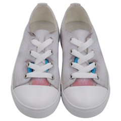 Beautiful White Face Cat Animals Blue Eye Kids  Low Top Canvas Sneakers