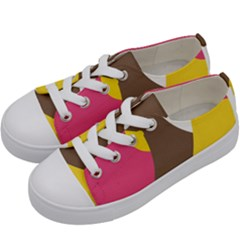 Breast Pink Brown Yellow White Rainbow Kids  Low Top Canvas Sneakers by Mariart