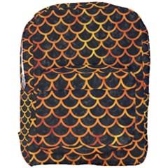 Scales1 Black Marble & Fire Full Print Backpack by trendistuff