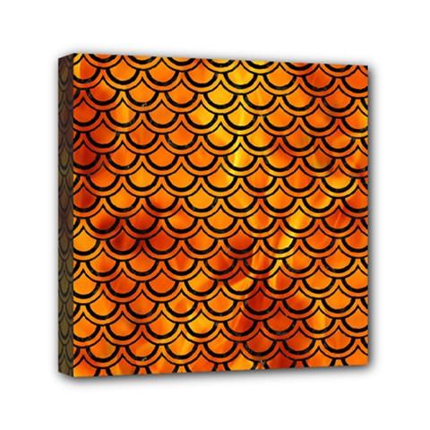 Scales2 Black Marble & Fire (r) Mini Canvas 6  X 6  by trendistuff
