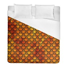 Scales2 Black Marble & Fire (r) Duvet Cover (full/ Double Size) by trendistuff