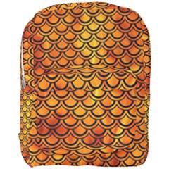 Scales2 Black Marble & Fire (r) Full Print Backpack by trendistuff