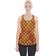 Scales2 Black Marble & Fire (r) Piece Up Tank Top