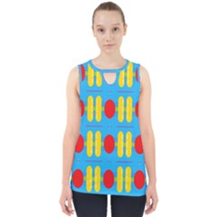 Ovals And Stripes Pattern                            Cut Out Tank Top