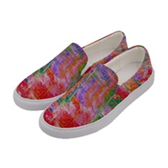Colorful Watercolors Pattern                       Women Canvas Slip Ons by LalyLauraFLM