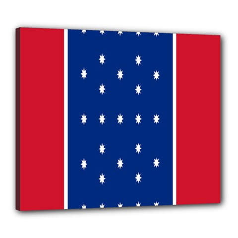 British American Flag Red Blue Star Canvas 24  X 20  by Mariart