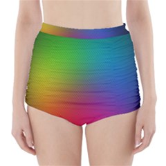 Bright Lines Resolution Image Wallpaper Rainbow High Waisted Bikini Bottoms