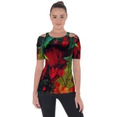 Flower Power, Wonderful Flowers, Vintage Design Short Sleeve Top by FantasyWorld7