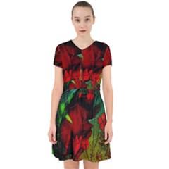 Flower Power, Wonderful Flowers, Vintage Design Adorable In Chiffon Dress