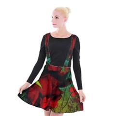 Flower Power, Wonderful Flowers, Vintage Design Suspender Skater Skirt by FantasyWorld7