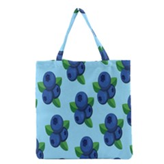 Fruit Nordic Grapes Green Blue Grocery Tote Bag by Mariart