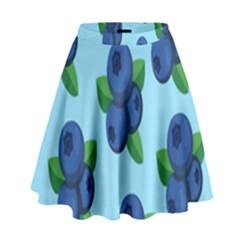Fruit Nordic Grapes Green Blue High Waist Skirt by Mariart