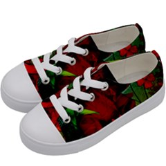 Flower Power, Wonderful Flowers, Vintage Design Kids  Low Top Canvas Sneakers by FantasyWorld7