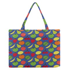 Fruit Melon Cherry Apple Strawberry Banana Apple Zipper Medium Tote Bag by Mariart
