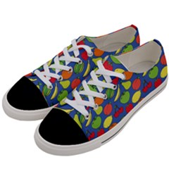 Fruit Melon Cherry Apple Strawberry Banana Apple Women s Low Top Canvas Sneakers by Mariart