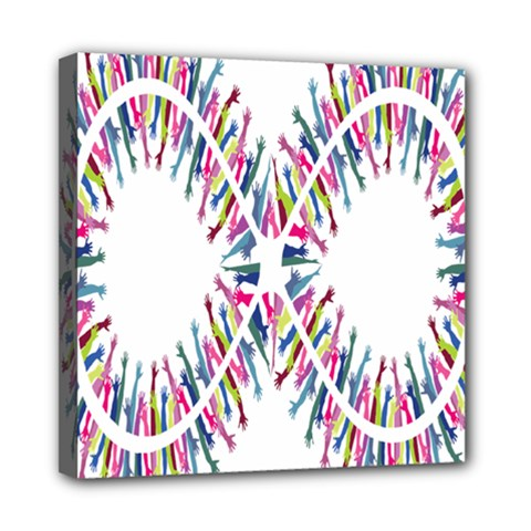 Free Symbol Hands Mini Canvas 8  X 8  by Mariart