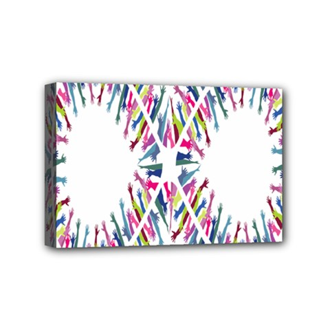 Free Symbol Hands Mini Canvas 6  X 4  by Mariart